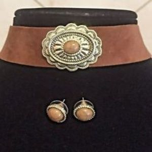 * RARE * wide Silver Choker Western Southern  vtg